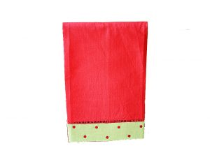 Red Green Red Polka Dot Guest Towel