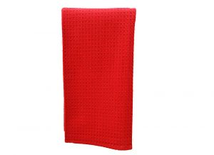Red Waffle Weaves Kitchen Towels